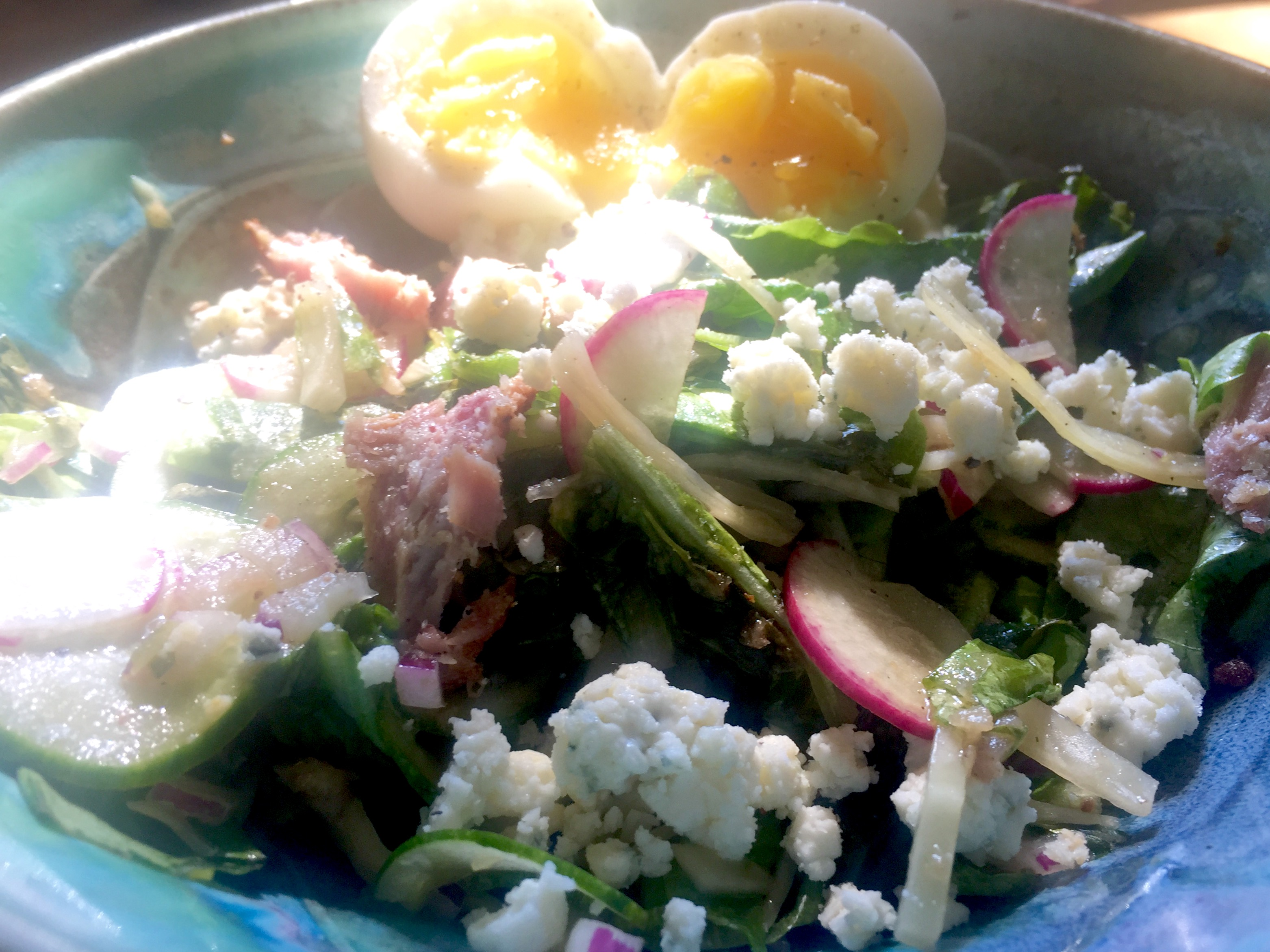 Leftover Salad with Soft Egg