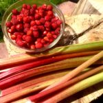 Wild Strawberries and Rhubarb from the yard.
