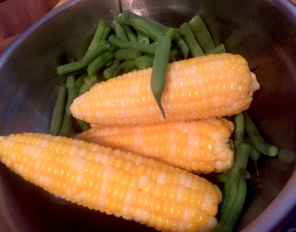 Fresh Sweet Corn and Green Beans