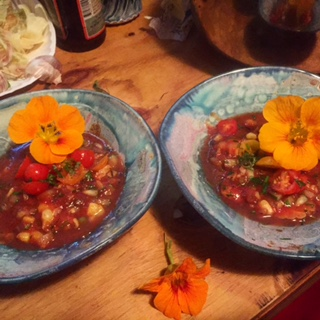 Fresh Tomato and Veggie Gazpacho
