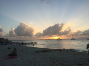 Isla Mujeres--Playa Norte Sunset