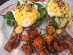 North Garden's Walnut Pecan Eggs Benedict