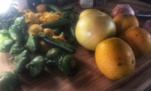 Tiny Veggies and Fresh Citrus