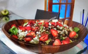 Strawberry, Pecan, Blue Cheese Salad