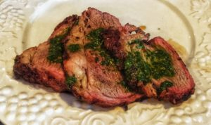 Skirt steak and chimichurri