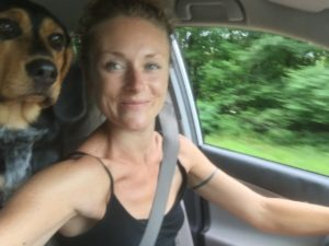 Cruising in the Rav with my Bea-baby.