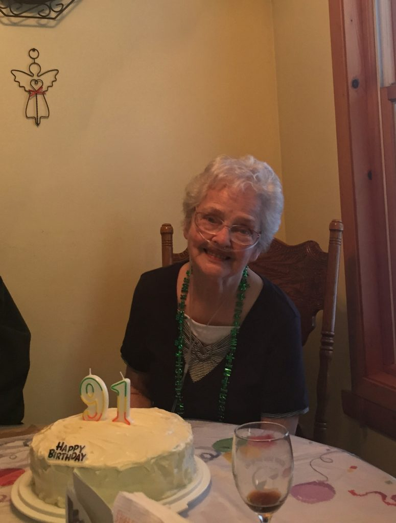 The ever-lovely Betty Harkness on her 91 birthday.