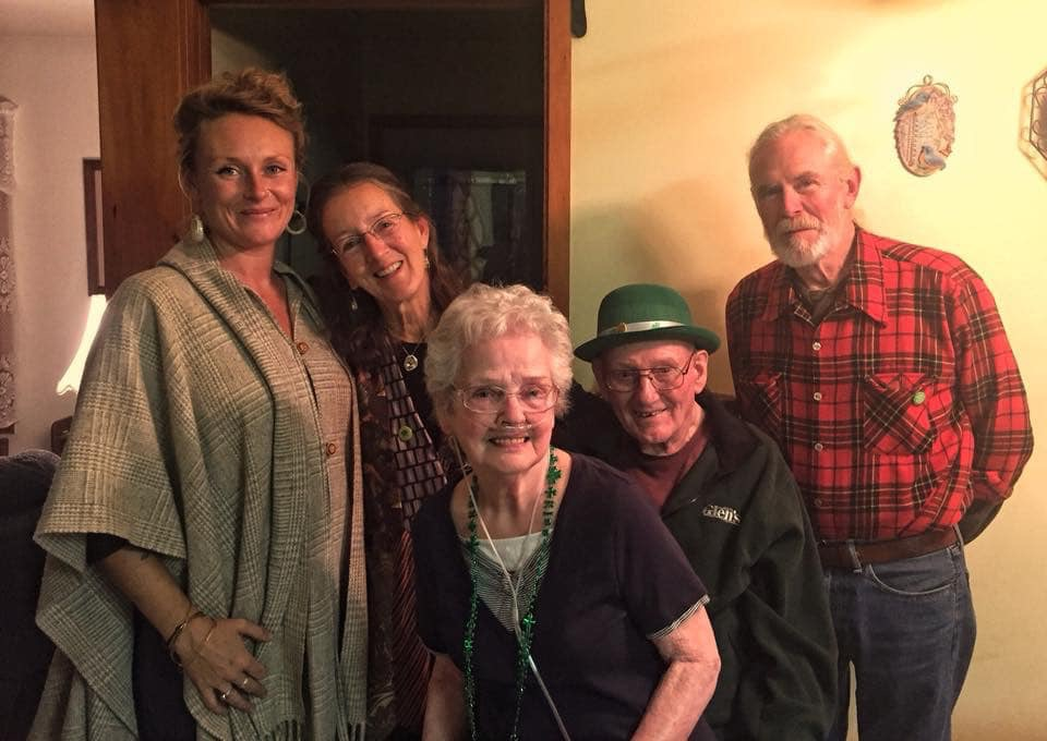 The Harkness' and the Mills', St. Patrick's Day 2018–the last time I spent with my grandma and grandpa.