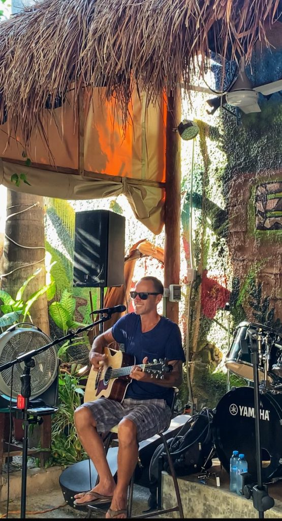 Ryan Rickman playing at El Patio on Isla Mujeres